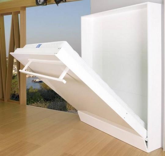 Lit armoire escamotable slim - Lit relevable griffon ...