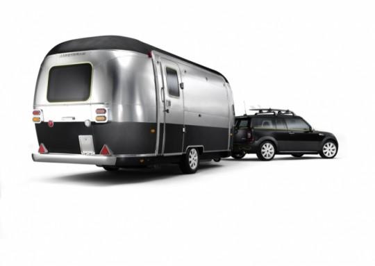 Mini Cooper et caravane Airstream