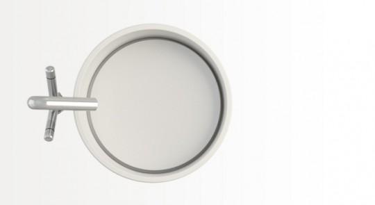 Vasque en corian à poser ronde Ring