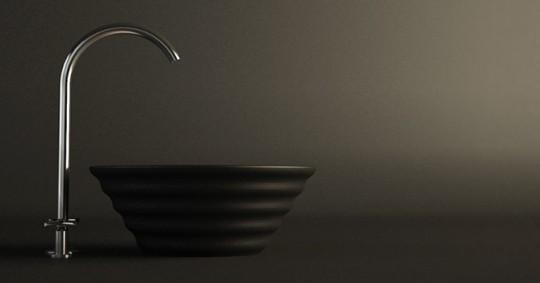Vasque en corian noir Eos