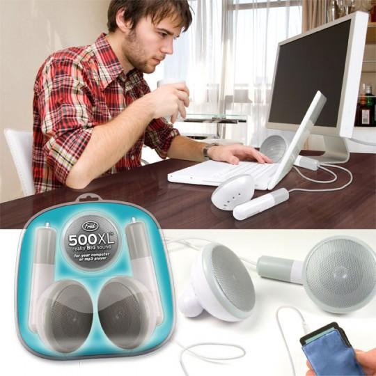 500 XL, écouteurs pour iPod géants