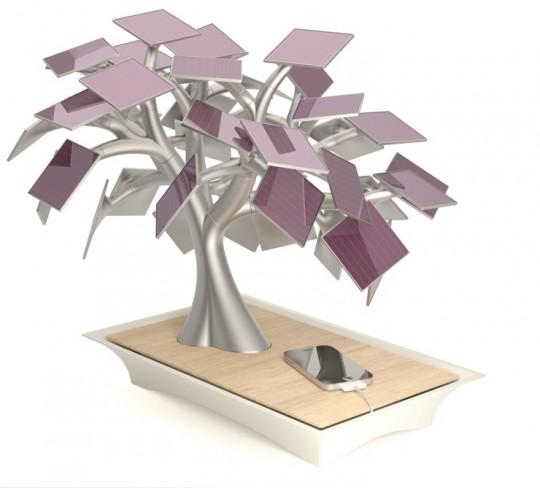 Electree, chargeur solaire USB en forme de BonsaÏ