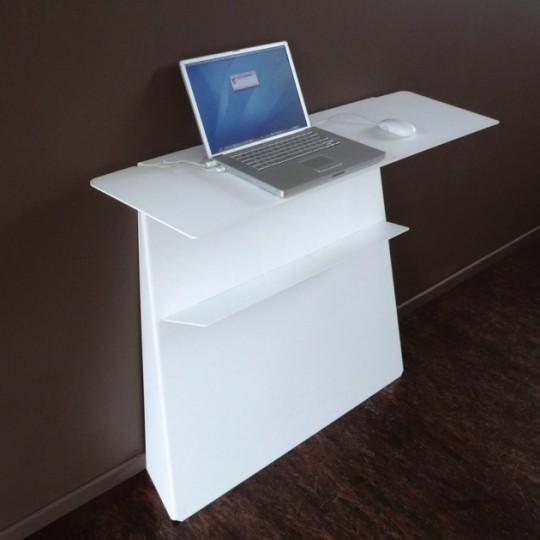 Console bureau Zeta blanc | Studio Manzano