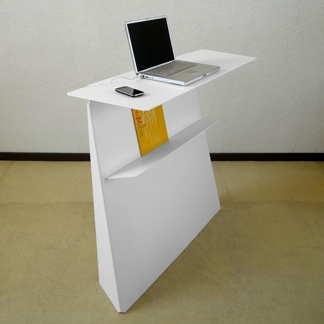 Console Bureau Dappoint En Acier Zeta Studio Manzano