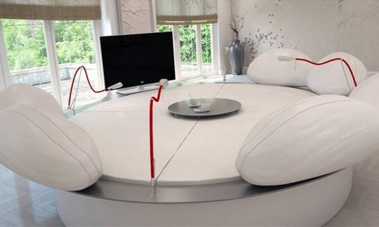 Future systems, Sofa lounge high tech blanc