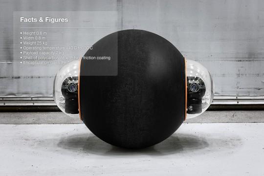 Caractéristiques du robot Groundbot by Rotundus