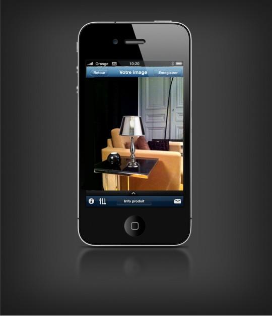 Application déco Castorama pour iPhone avec réalité augmentée