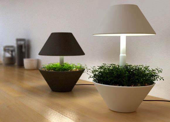 Lightpot by shulab lampe pot de fleurs for Lampe pour plante d interieur