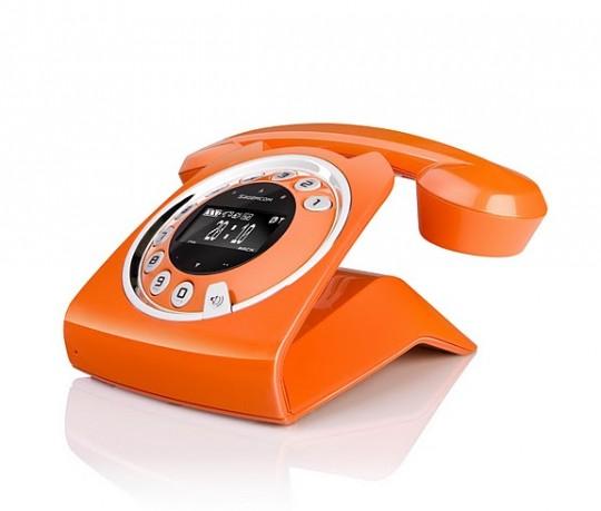 Sagemcom sixty - téléphone vintage orange