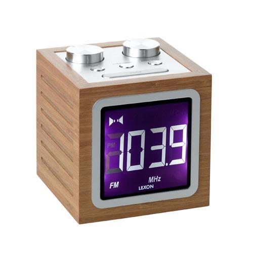 Radio-réveil LCD Lexon Dolmen bambou