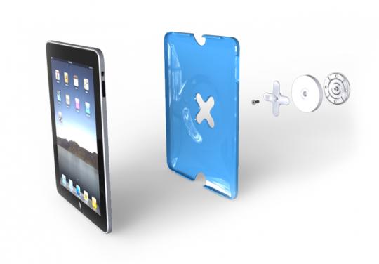 Montage de la protection avec fixation murale pour iPad Wallee