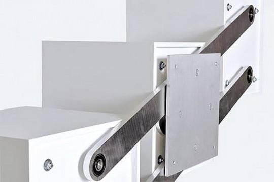 Système de fixation mobile pour étagère Dreix