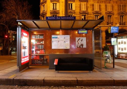 Ikea restyle les arrêt de bus à Paris