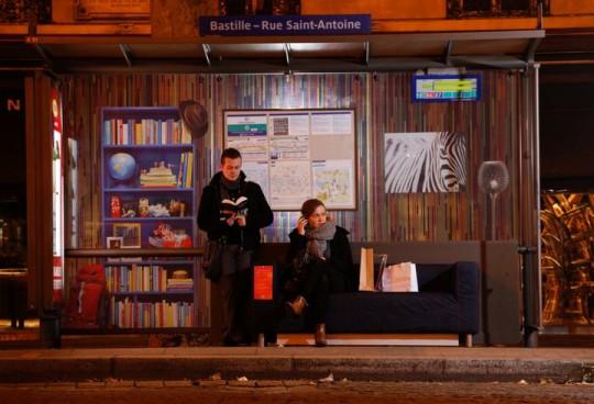 Ikea restyle les arrêts de bus à Paris