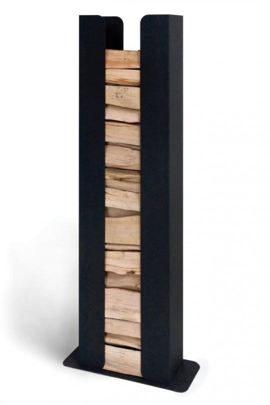 Porte-bûches colonne design Karter