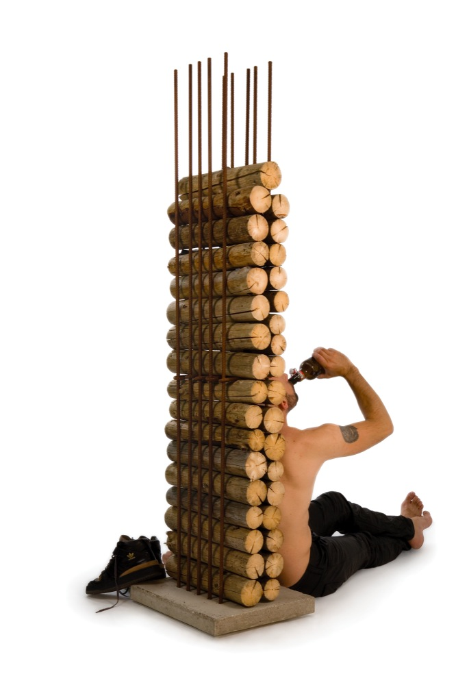 Rangement pour bûches en forme de colonne Berlin