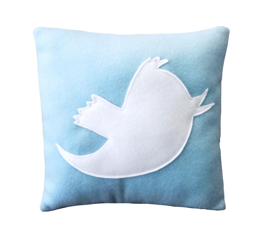 Coussin Twitter oiseau