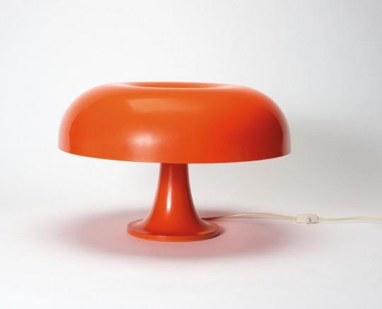 Lampe des années 60, Nesso Artemide orange