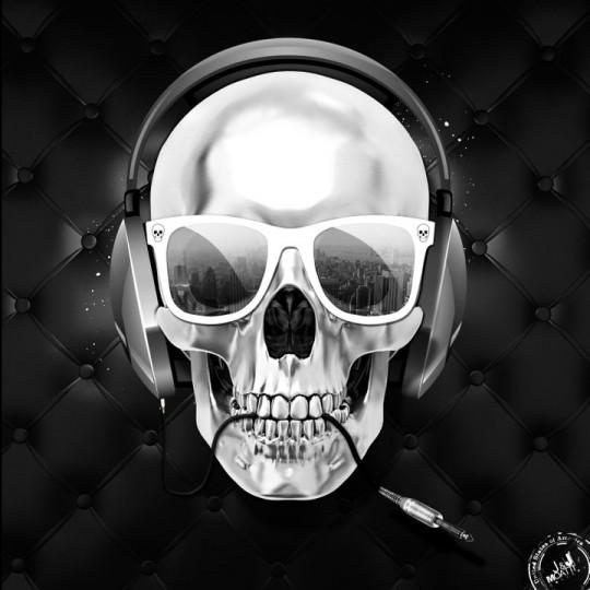 Tableau tête de mort Skull fashion - J&J Moatti