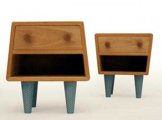 Tables de chevet en bois atypiques socks