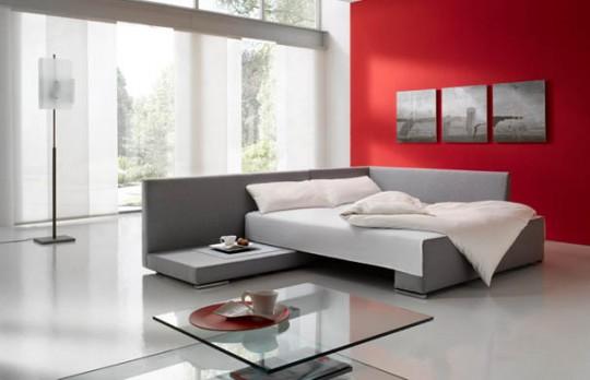Canapé d'angle convertible en lit Vento