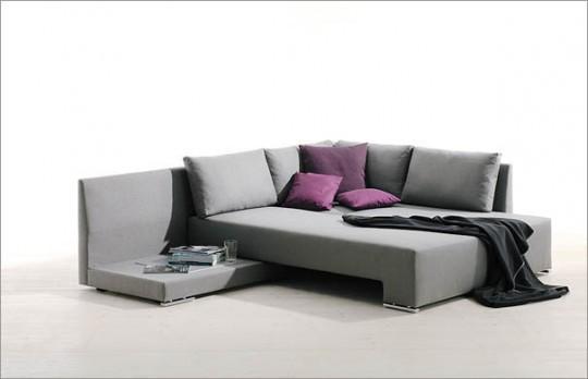 Canapé d'angle design convertible