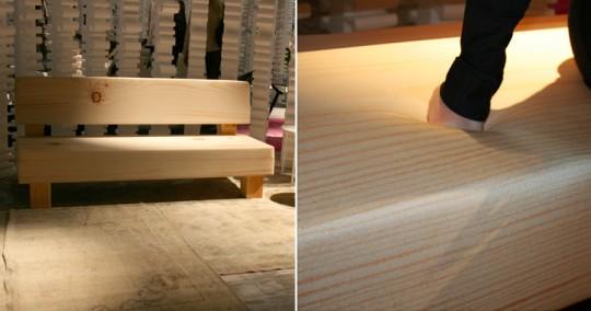 Canapé aspect bois en mousse Softwood sofa