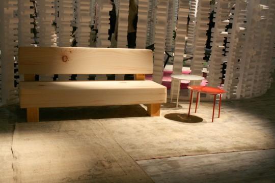 Canapé en faux bois - Soft wood sofa