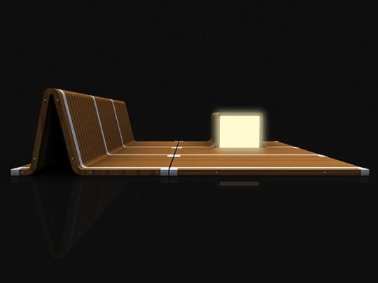 Magic rug, tapis futuriste avec éclairage intégré
