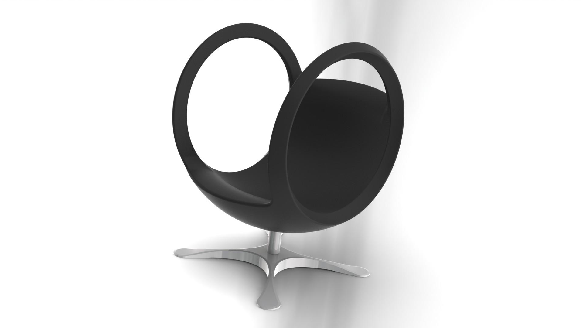 Fauteuil boule design noir Outerspace