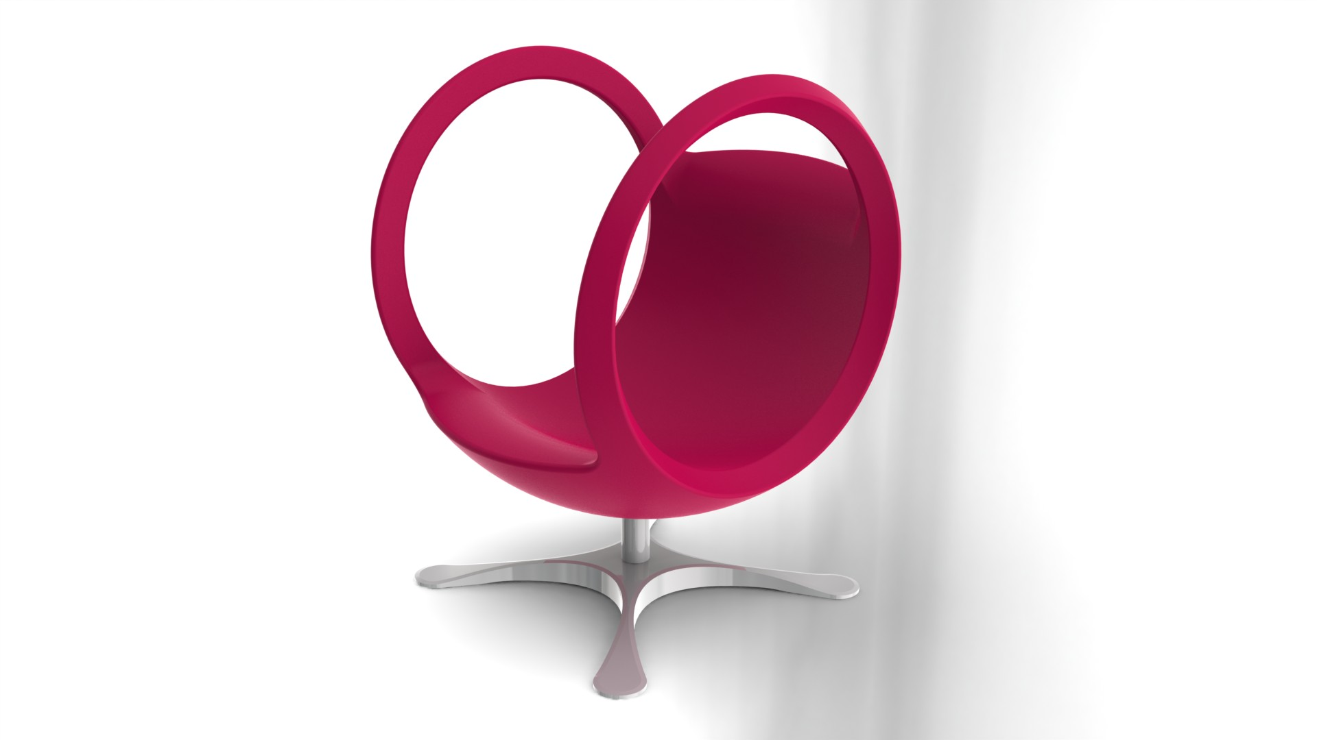 fauteuil boule rouge rose fuschia outerspace. Black Bedroom Furniture Sets. Home Design Ideas