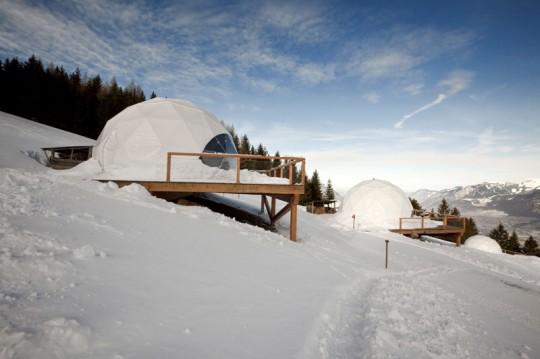Les igloos design de l'hotel Whitepod