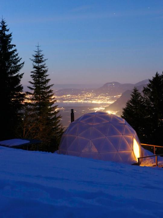 whitepod chambre d 39 hotel igloo en suisse. Black Bedroom Furniture Sets. Home Design Ideas