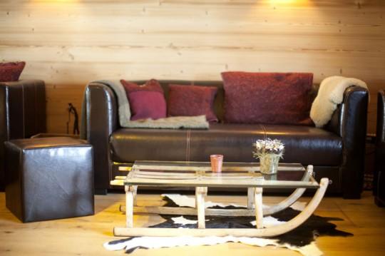 Table basse traineau - Hotel Whitepod