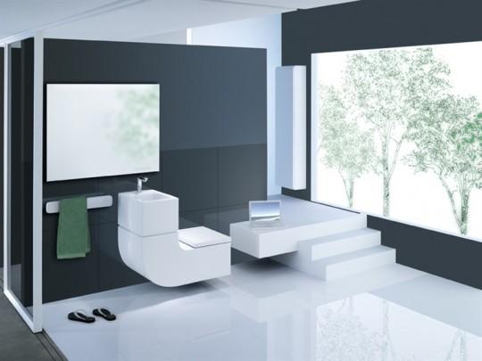 Roca W+W lavabo et WC suspendu design