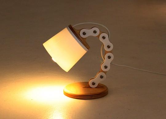 B chain lamp allumée