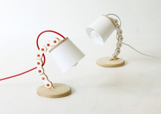 B chain lamp - lampe chaine de vélo