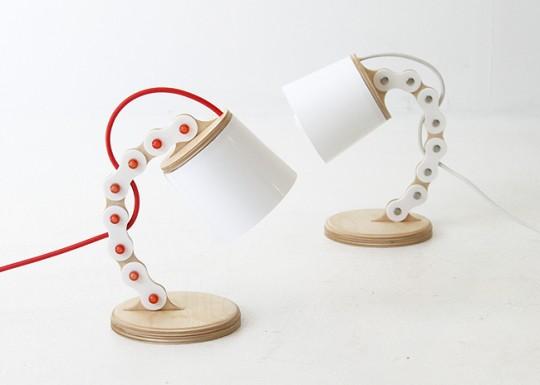B bain lamp - lampe avec pied articulé
