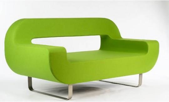 Canapé contemporain vert