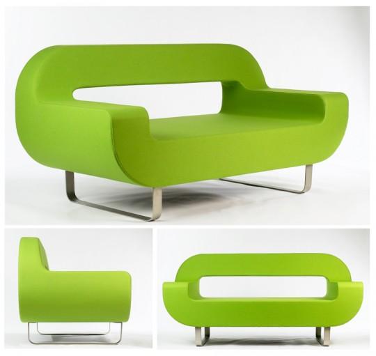 Canapé contemporain vert pomme Anno - Ix design