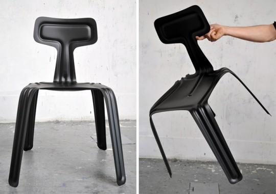 Chaise en aluminium ultra fine Pressed chair