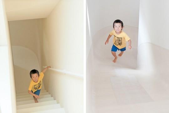 Escalier toboggan design