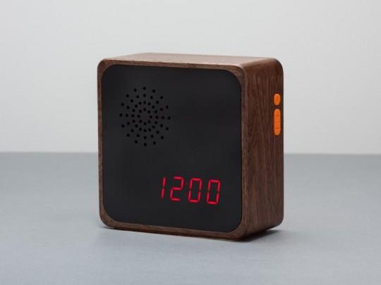 Furni Alba - radio-réveil en bois sombre