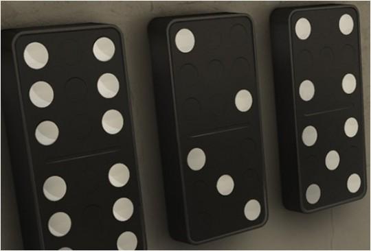 Horloge Domino Clock - Carbon design