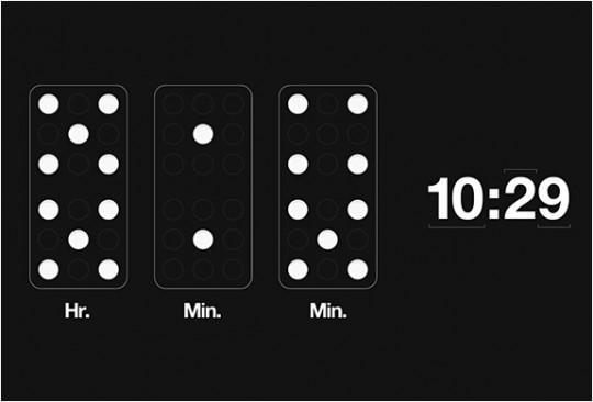 Horloge avec des dominos Domino clock