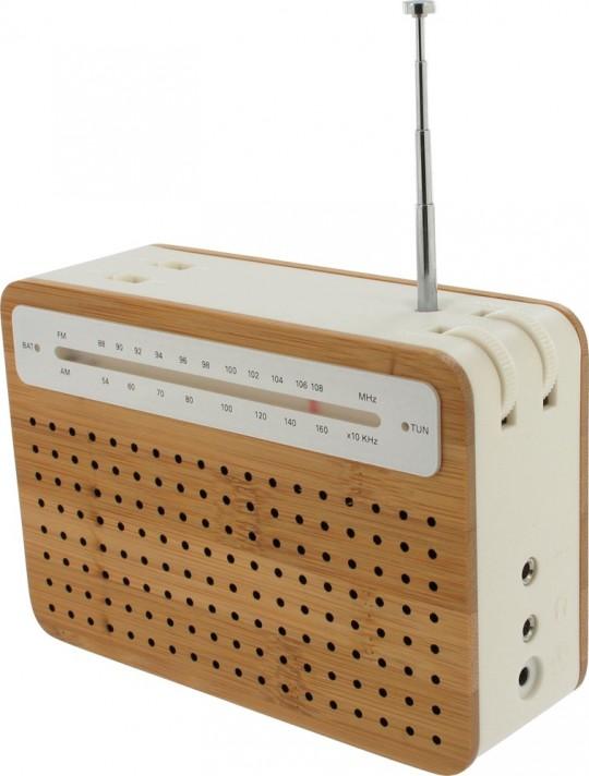 Radio en bambou Safe radio Lexon
