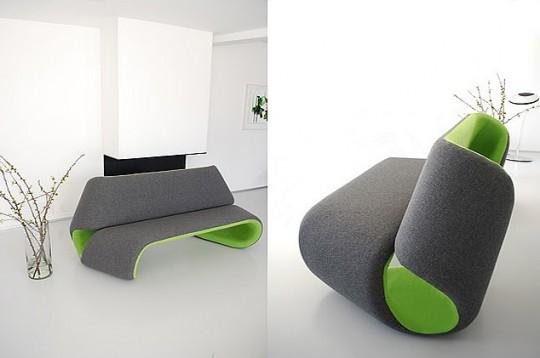 Sofa vert et gris anthracite Greener Grass