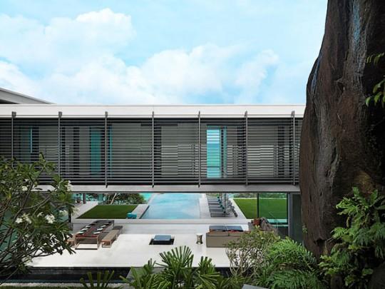 Villa Amanzi avec passerelle