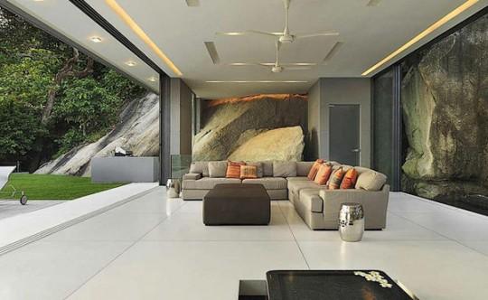 Salon de la villa de luxe Amanzi