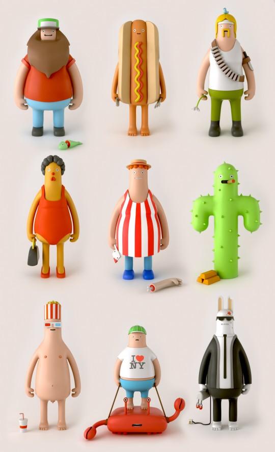 Yum Yum art toys - série 1